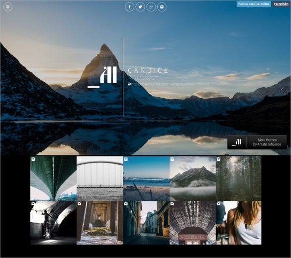 free single column tumblr theme1