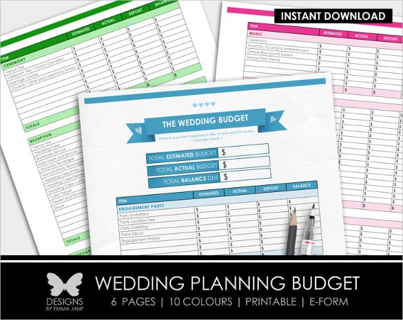 easy to downloada wedding budget worksheet1