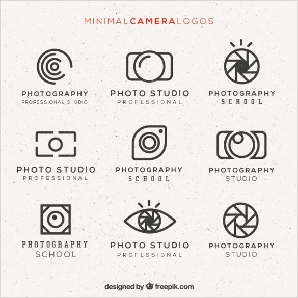 minimal camera logos pack free vector download