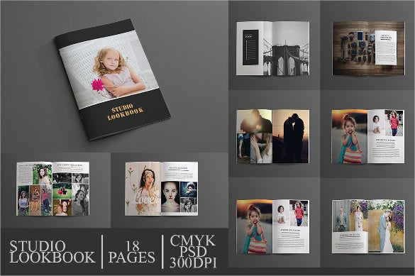 studio look brochure template