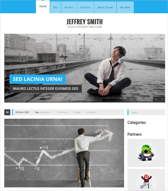 simple clean responsive tumblr theme 29