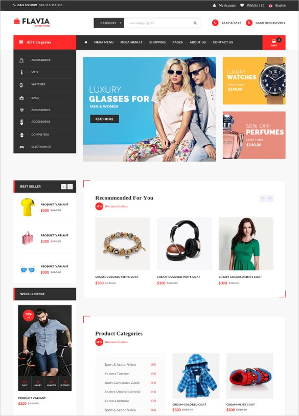 html5 css3 ecommerce website template