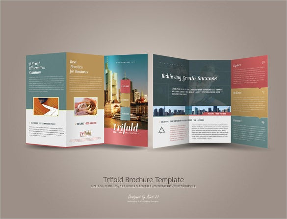 trifold brochure template download