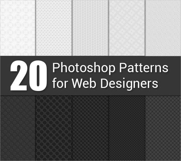 20 white black patterns for web designers