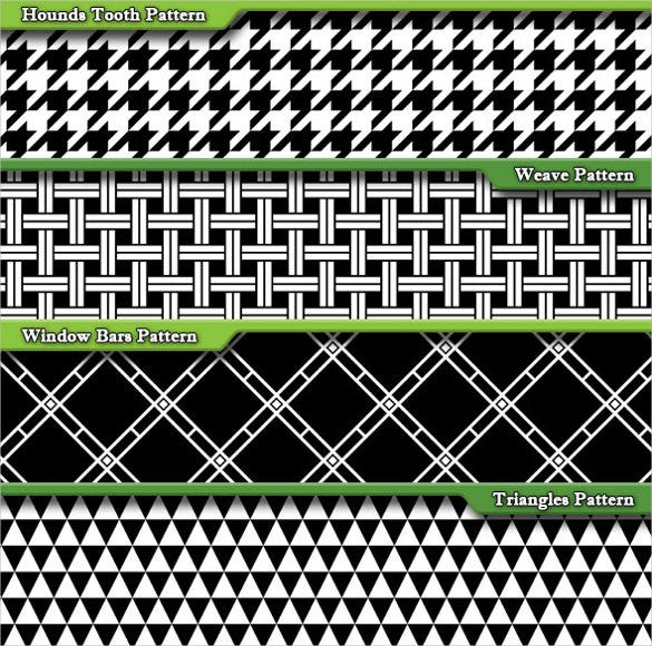 15 black white fashion pattern set download