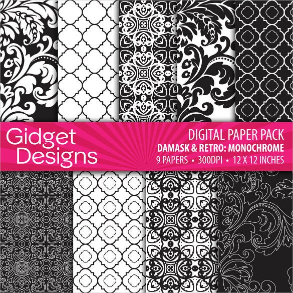 7 damask quatrefoil black and white patterns download