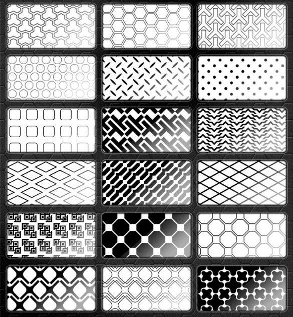 42 blackwhite patterns bundle download