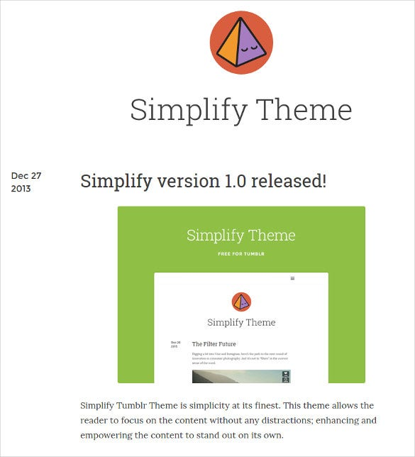 free simplify tumblr theme1