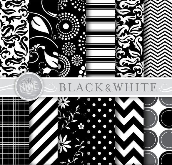 12 black and white patterns download