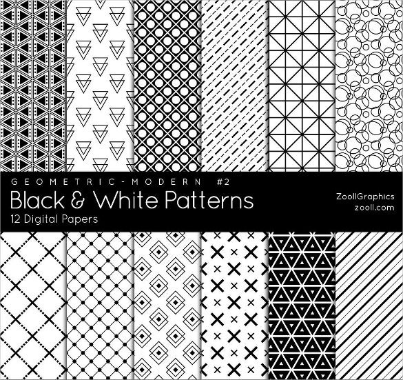 12 amazing black and white patterns download