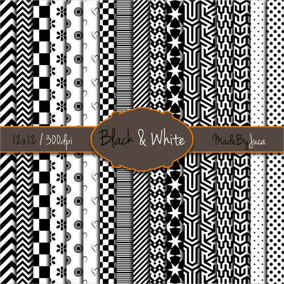 17 creative black white pattern set download