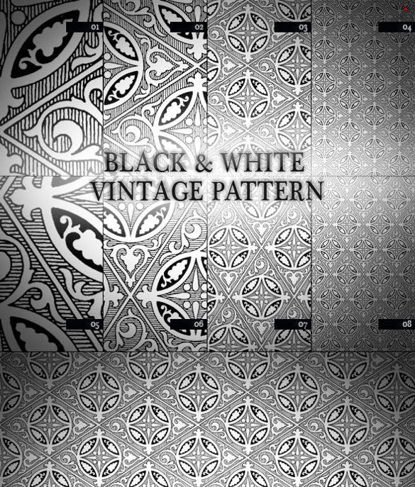 black white vintage pattern design download