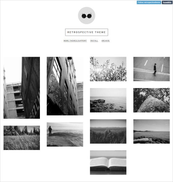 free respective grid layout tumblr theme1