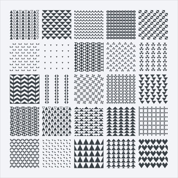 20 black and white vector pattern set download