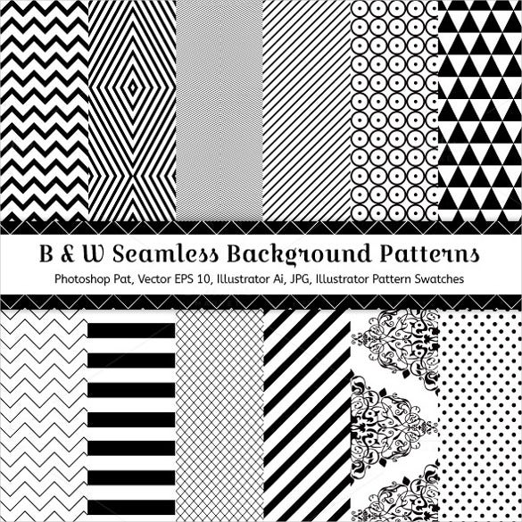 12 black and white geometric patterns download