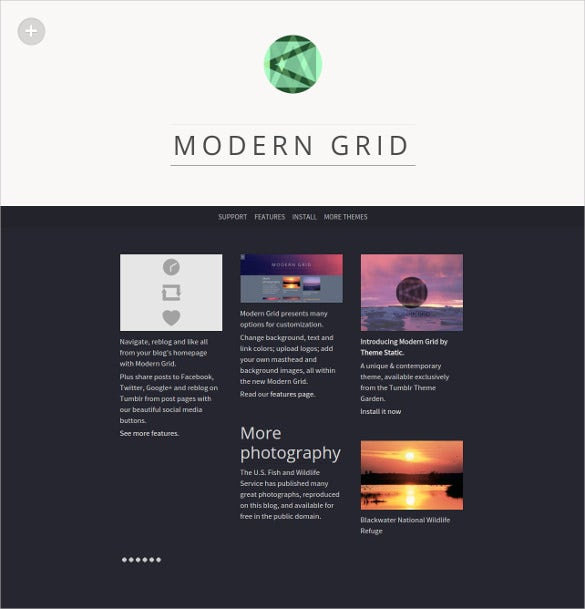 free modern grid tumblr theme2