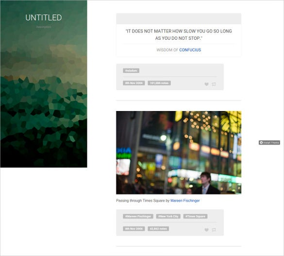 free minimla blog tumblr theme1
