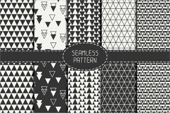 5 black and white triangle pattern download
