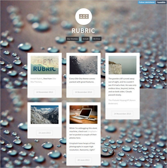 free rubric tumblr theme1