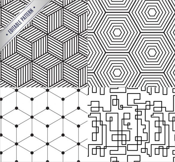 geometrical black and white pattern free download