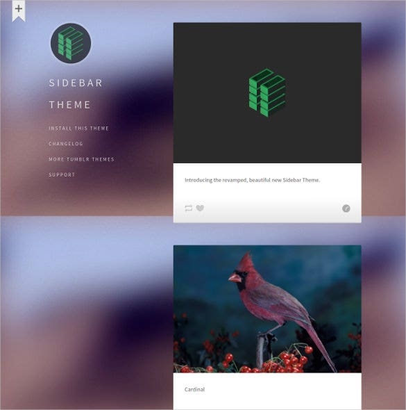 free sidebar tumblr theme1
