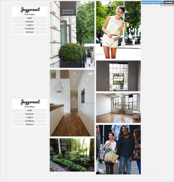 free style grid tumblr theme1