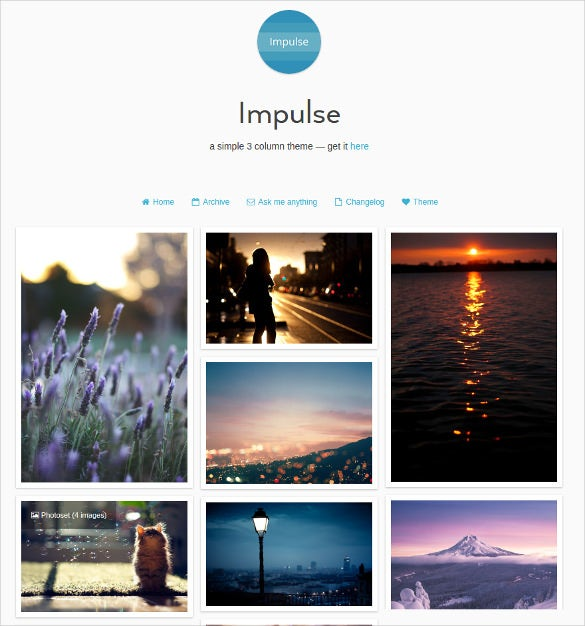 free minimal tumblr theme1