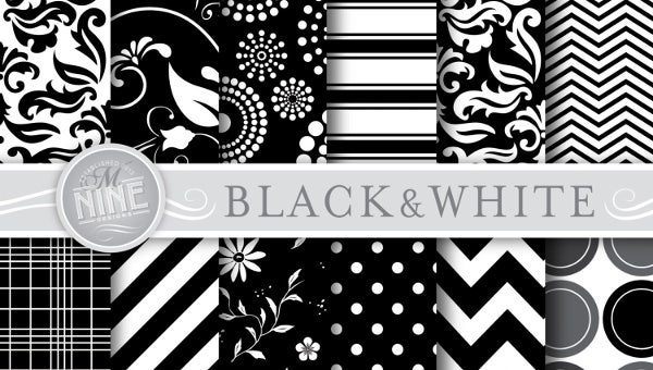 black and white pattern1