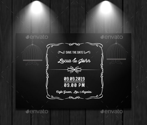 easy to download wedding card template