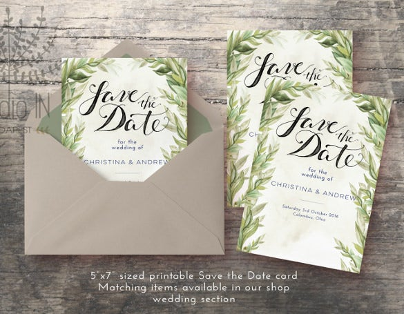 save the date wedding card download