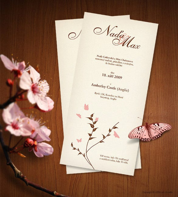 Wedding Card Templates Free Printable Sample Example Format - Wedding invitation card design template free download