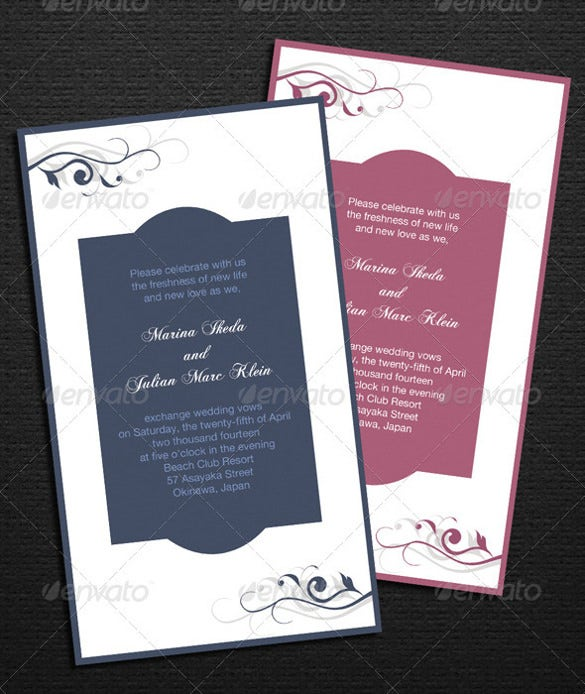 elagant wedding card template download