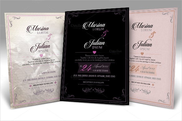 complete wedding card set for download