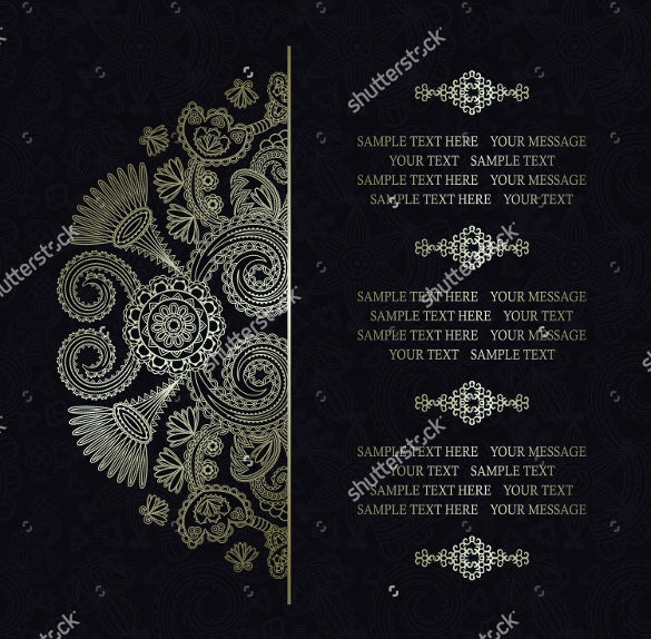 easy to edit wedding card design