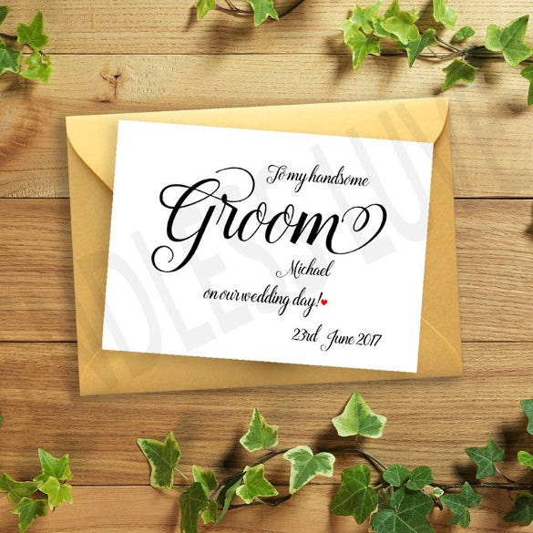 groom wedding card design download