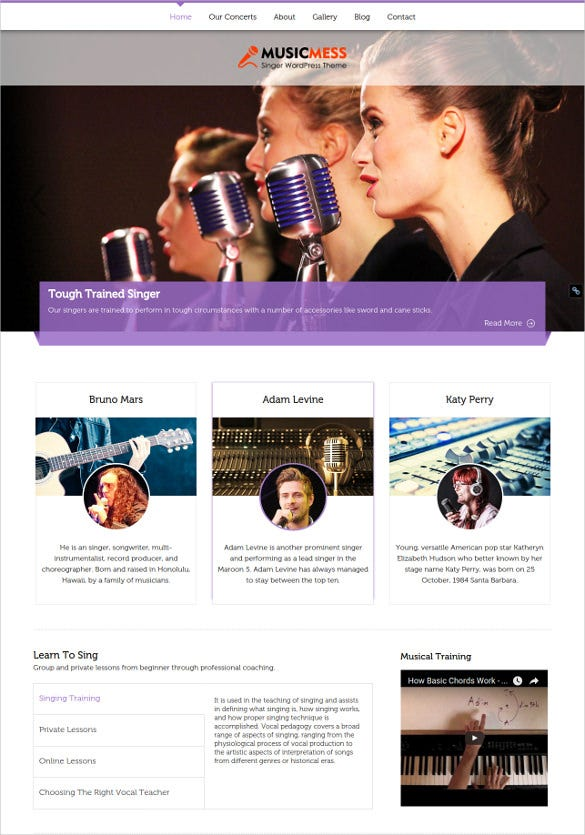 60+ Music Website Themes & Templates | Free & Premium Templates