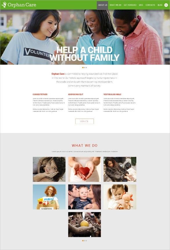 responsive non profit website template