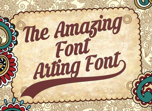 amazing arting professional font ttf download