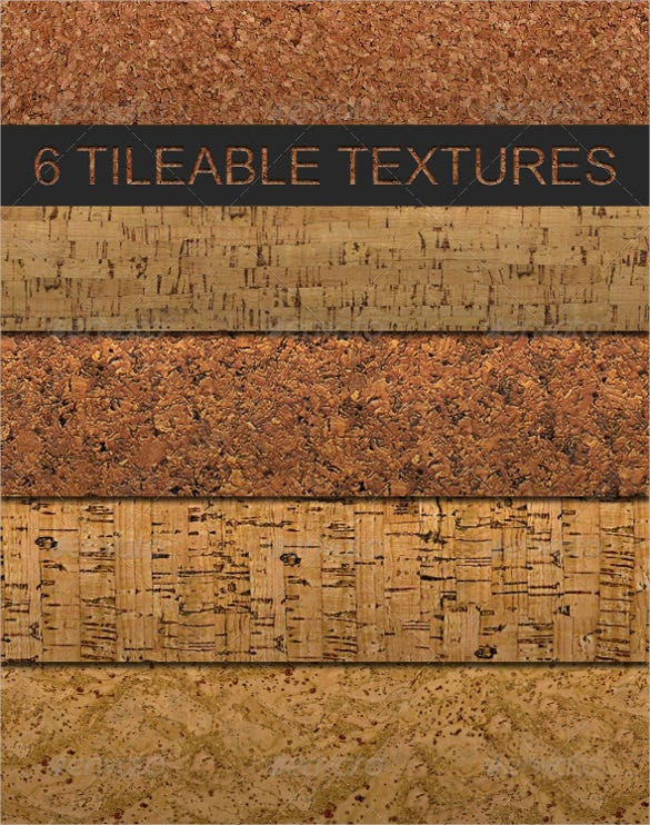6 tileable cork photoshop texture pattern set download