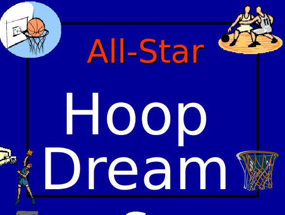 hoop dreams powerpoint game template