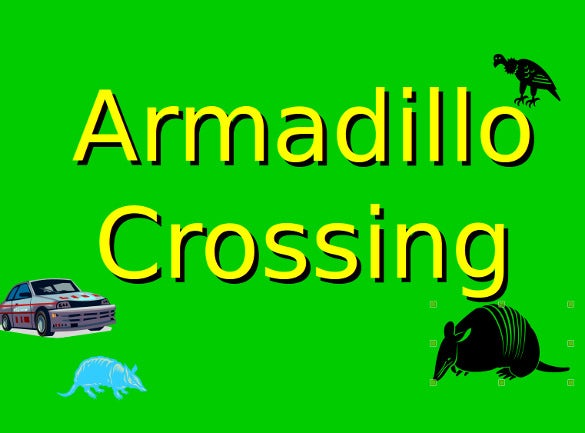 armadillo crossing powerpoint game template free download