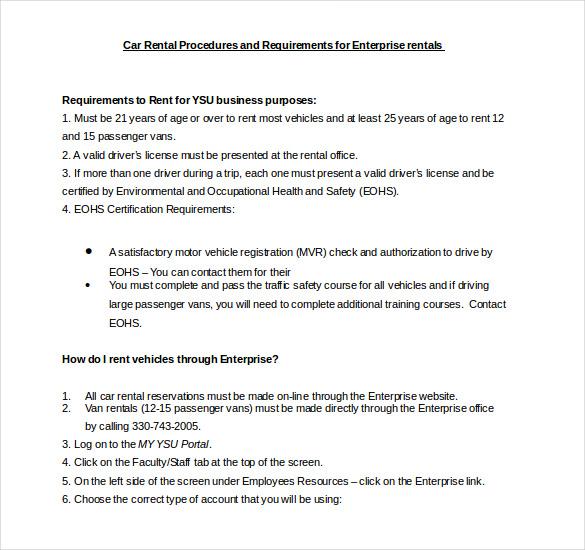 enterprise car rental application