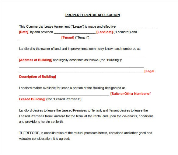 10 word rental application templates free download free premium