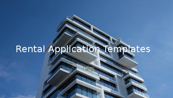 rental application templates