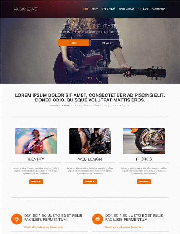 28+ Band Website Themes & Templates | Free & Premium Templates