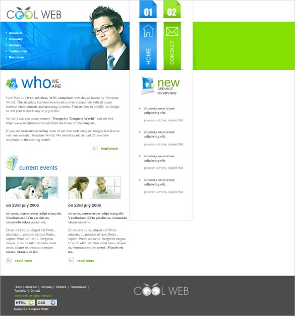 business free cool website template