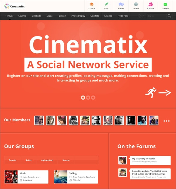 cinema buddypress theme 59