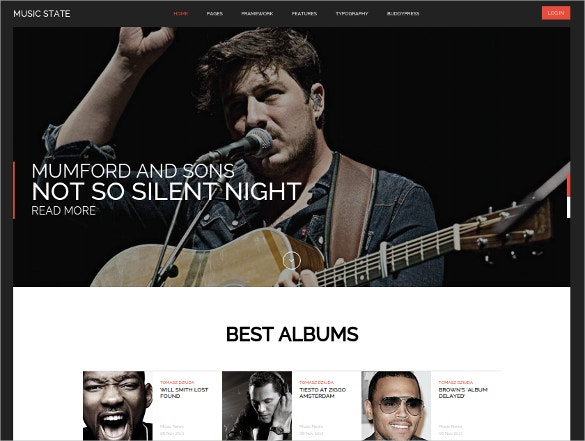 music buddypress wordpress theme 55