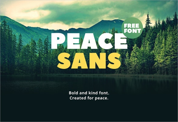 peace sans font download for free