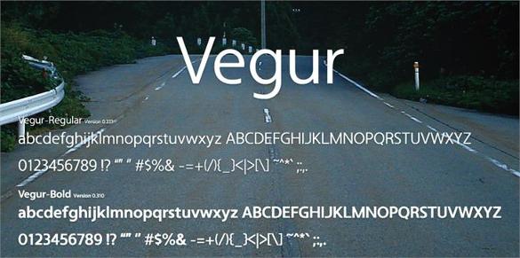vegur free font download